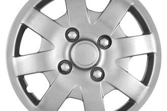 "CCI® - Universal 14"" 8 Spokes 8 Vents with Depression Silver Wheel Covers"