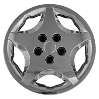 "CCI® - 14"" 5 Spokes 5 Vents Chrome Wheel Cover Set"