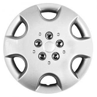 "CCI® - 15"" 6 Spokes 6 Vents Silver Wheel Cover Set"