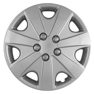 "CCI® - 15"" 7 Vents with Depression Silver Wheel Cover Set"