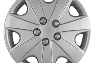 "CCI® - Universal 15"" 7 Vents with Depression Silver Wheel Covers"
