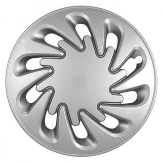 "CCI® - 15"" 10 Directional Vents Silver Wheel Cover Set"