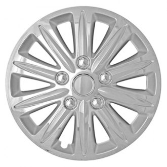 "CCI® - 15"" 10 Spokes with Depression Chrome Silver Wheel Covers"