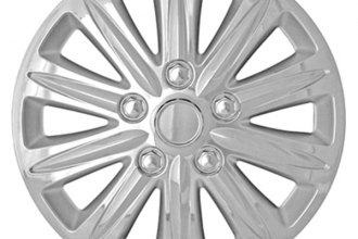 "CCI® - Universal 15"" 10 Spokes with Depression Chrome Silver Wheel Covers"