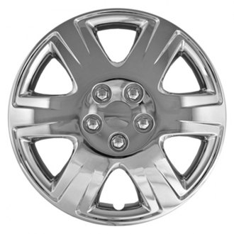 "CCI® - 15"" 6 Wide Spokes with Depressed Vents Chrome Wheel Covers"