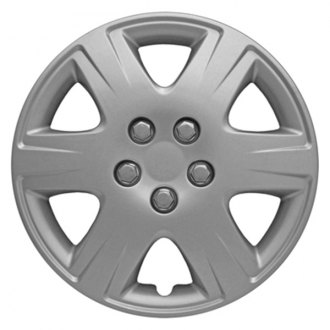 "CCI® - 15"" 6 Wide Spokes 6 Depressed Vents Silver Wheel Cover Set"