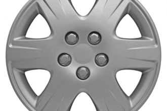 "CCI® - 15"" 6 Wide Spokes 6 Depressed Vents Silver Wheel Covers"