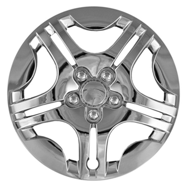 "CCI® - 15"" Star Design 5 Split Spokes Chrome Wheel Covers"