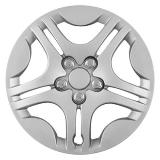 "CCI® - 15"" Star Design 5 Split Spokes Silver Wheel Covers"