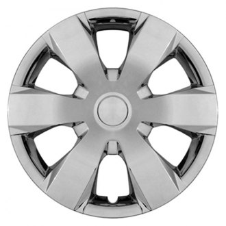 "CCI® - 14"" 6 Wide Spokes Silver Aftermarket Wheel Covers"