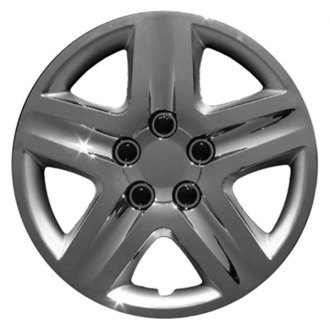 "CCI® - 16"" 5 Spokes with Depression Chrome Aftermarket Wheel Covers"