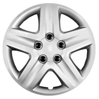 "CCI® - 16"" 5 Spokes with Depression Silver Wheel Covers"