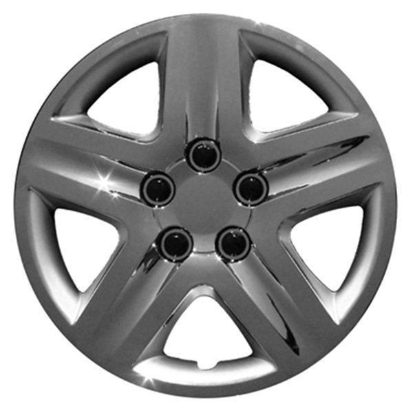 "CCI® - 17"" 5 Spokes with Depression Chrome Wheel Covers"