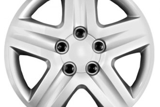 "CCI® - 17"" 5 Spokes with Depression Silver Wheel Covers"