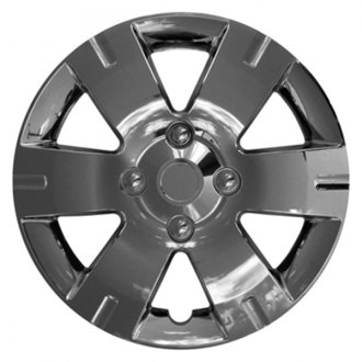 "CCI® - 15"" 6 Wide Spokes with Depression Chrome Wheel Covers"
