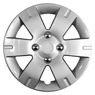 "CCI® - 15"" 6 Wide Spokes with Depression Silver Aftermarket Wheel Covers"