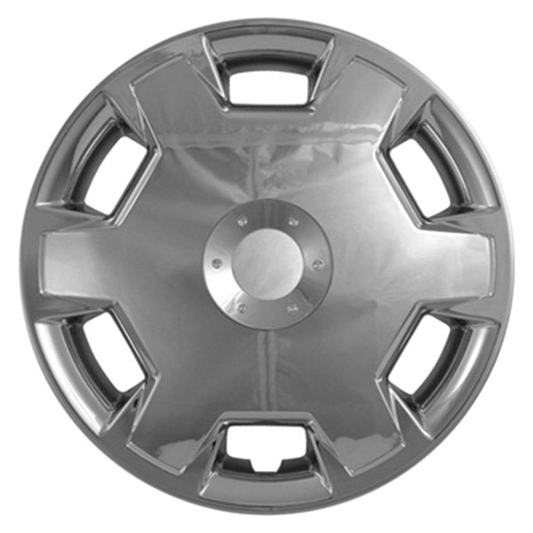 "CCI® - 15"" 6 Raised Spokes 6 Slots Chrome Wheel Covers"