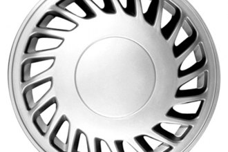 "CCI® - Universal 15"" 20 Slots Silver Wheel Covers"