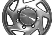 "CCI® - Universal 16"" 7 Spokes Directional with Charcoal Ring Silver with Chrome Ring Wheel Covers"