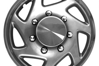 "CCI® - 16"" 7 Spokes Directional with Charcoal Ring Silver with Chrome Ring Wheel Covers"