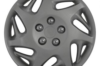 "CCI® - 16"" 7 Directional Spokes 7 Double Vents Silver Wheel Covers"
