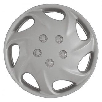 "CCI® - 15"" 7 Directional Vents Silver Wheel Cover Set"