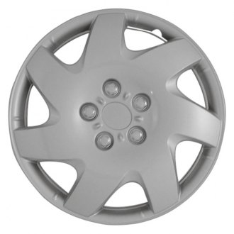 "CCI® - 16"" 7 Directional Vents Silver Wheel Cover Set"