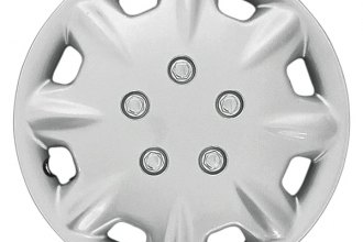 "CCI® - 14"" 8 Raised Spokes 8 Slots Silver Wheel Covers"
