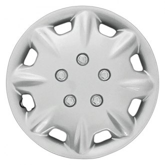 "CCI® - 15"" 8 Raised Spokes 8 Slots Silver Wheel Cover Set"