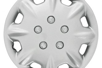 "CCI® - Universal 15"" 8 Raised Spokes 8 Slots Silver Wheel Covers"