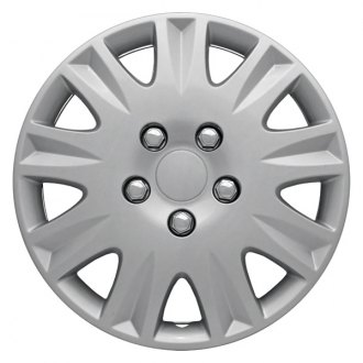 "CCI® - 15"" 9 Spokes 9 Vents with Depression Silver Wheel Covers"