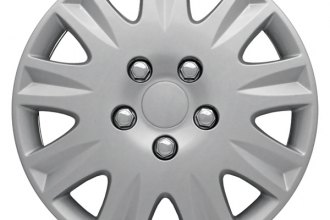 "CCI® - Universal 15"" 9 Spokes 9 Vents with Depression Silver Wheel Covers"