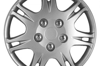 "CCI® - 15"" 7 Split Spokes Silver Wheel Covers"