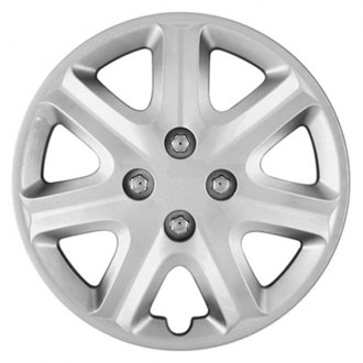 "CCI® - 15"" 7 Spokes with Depression Silver Wheel Covers"
