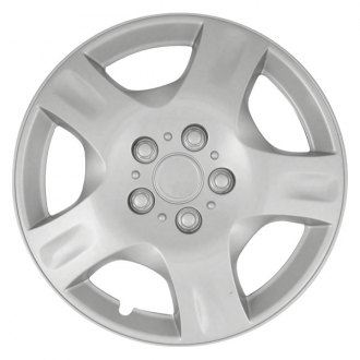"CCI® - 15"" 5 Spokes with Depression 5 Vents Silver Wheel Covers"