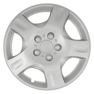 "CCI® - 16"" 5 Spokes with Depression 5 Vents Silver Wheel Cover Set"