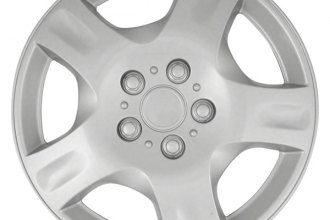 "CCI® - 16"" 5 Spokes with Depression 5 Vents Silver Wheel Covers"