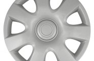 "CCI® - Universal 15"" 7 Flare Spokes Silver Wheel Covers"