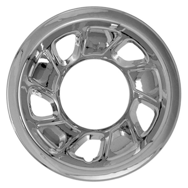 "CCI® - 15"" 5 Trapezoid Openings Triple Chrome Plated Impostor Wheel Skins"