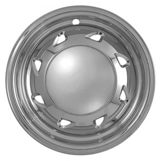 "CCI® - 15"" 8 Directional Triangles Chrome Impostor Wheel Skin Set"