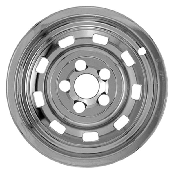 "CCI® - 15"" 9 Rounded Slots Chrome Impostor Wheel Skins"