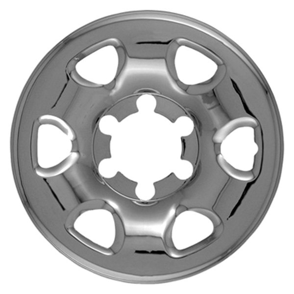 "CCI® - 15"" 6 Rounded Triangles Chrome Impostor Wheel Skin Set"
