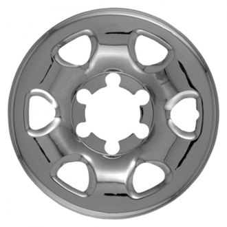 "CCI® - 15"" 6 Rounded Triangles Chrome Impostor Wheel Skins"
