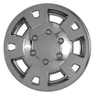 "CCI® - 15"" 5 Flat Spokes with Dimple Chrome Impostor Wheel Skin Set"