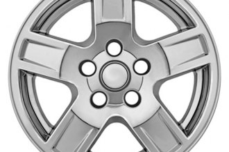 "CCI® - 17"" 5 Indented Spokes Chrome Impostor Wheel Skins"