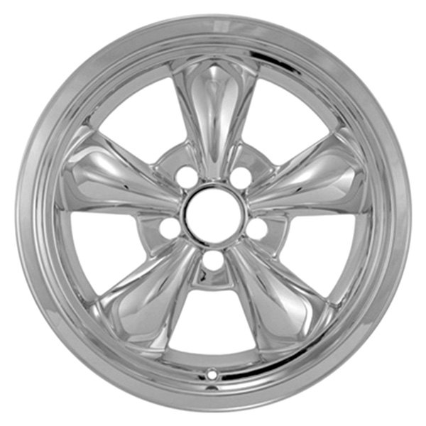 "CCI® - 17"" 5 Funnel Spokes Chrome Impostor Wheel Skins"