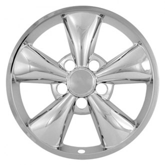 "CCI® - 17"" 5 Flat Funnel Spokes Chrome Impostor Wheel Skin Set"