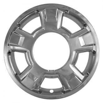 "CCI® - 17"" 5 Spokes with Center Cap Cut Out Chrome Impostor Wheel Skins"