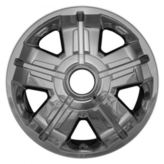 "CCI® - 18"" 2-Tone 5 Spokes Chrome with Silver Impostor Wheel Skins"
