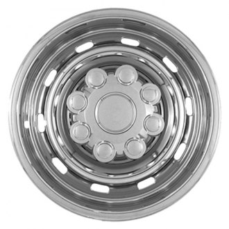 "CCI® - 17"" 10 Rounded Slots Triple Chrome Plated Impostor Wheel Skins"